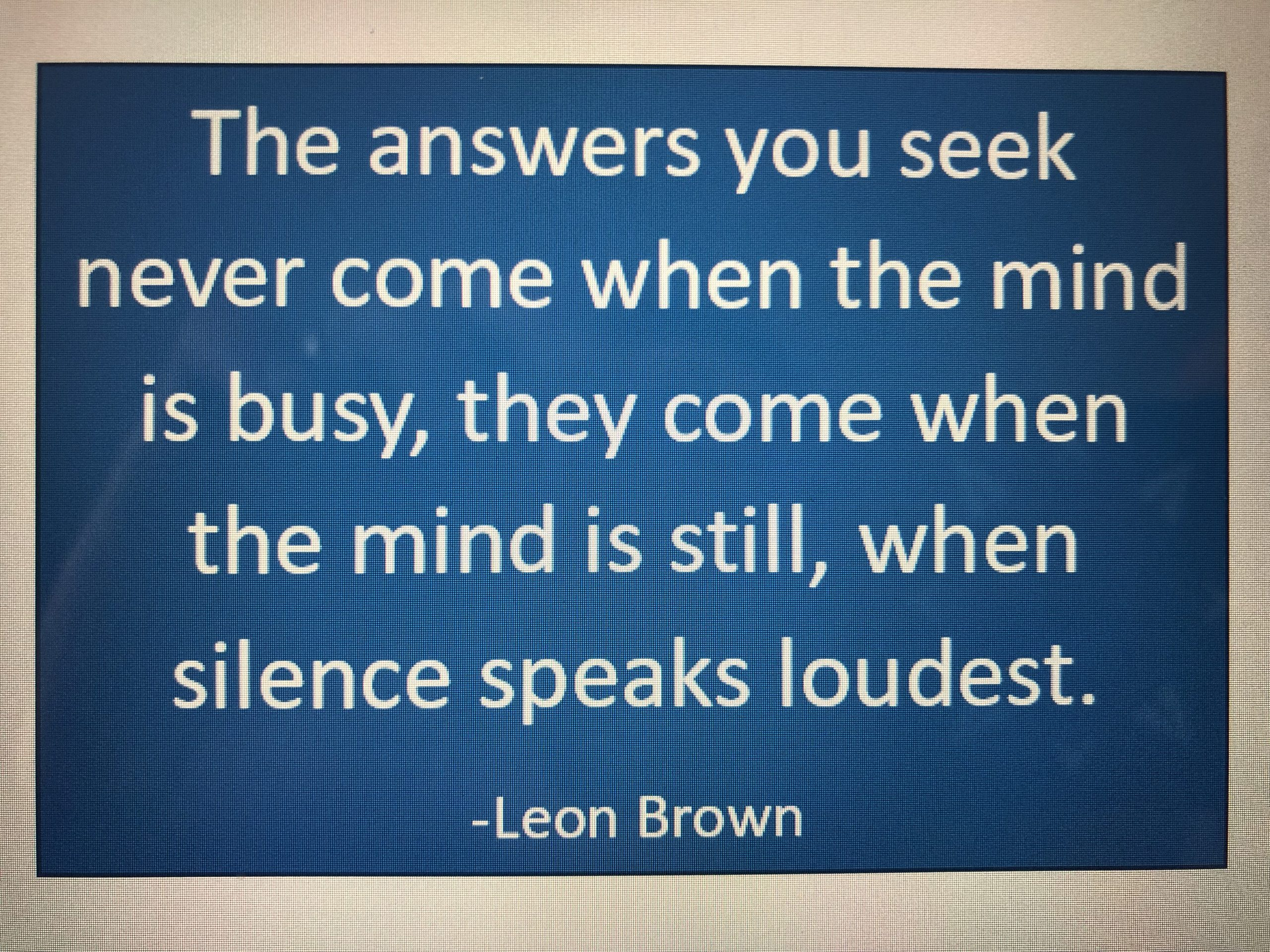Spend time in silence