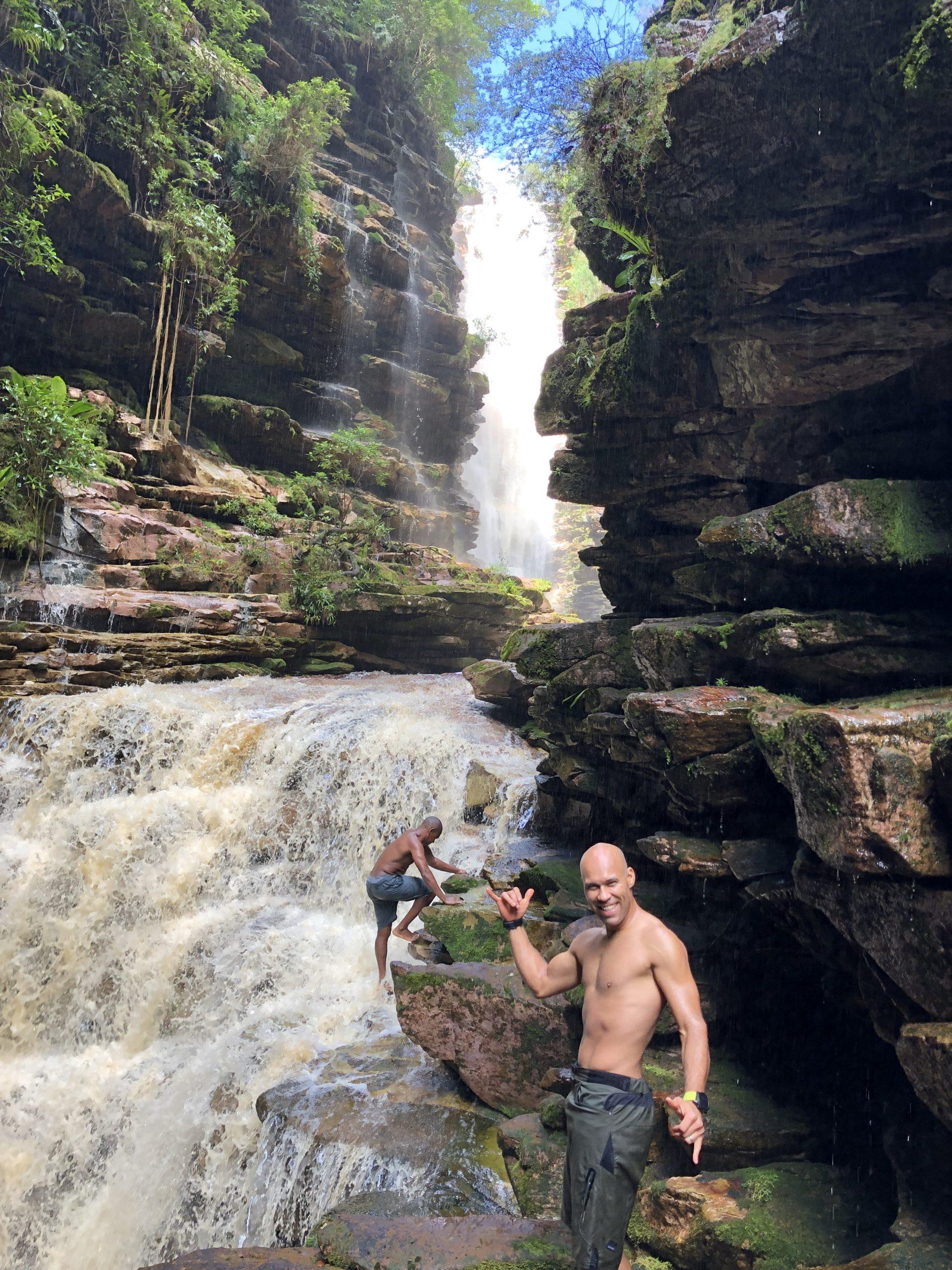 lau and singh waterfalls canyoneering vert